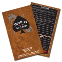 12x18, 11x17 or 8.5x14 Full Color Restaurant Menus on 12pt C2S