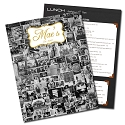 8.5x11 Full Color Restaurant Menus on 12pt C2S
