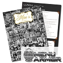 8.5x11 Menu Armor Full Color Restaurant Menus