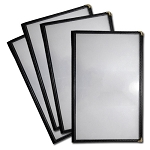 5.5x8.5 Sewn Edge Vinyl Menu Jackets, 4 View - Case of 25