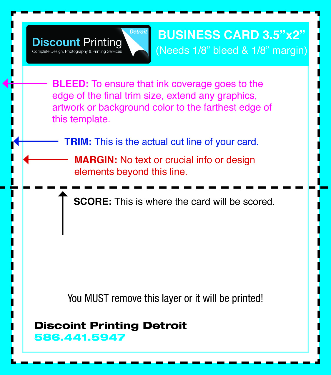 Printing Templates for Graphic Design | Discount Printing Detroit