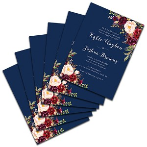 5x7 invitation announcements soft touch laminated printing metro