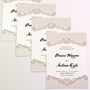 5x7 invitation announcements pearlized metallic printing metro