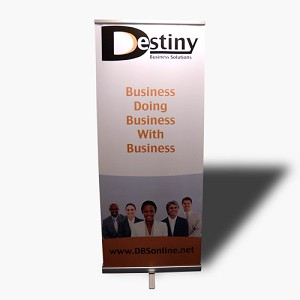 "33.46"" x 86"" Retractable Banner"