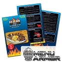 4.25x11 Menu Armor Full Color Restaurant Menus