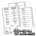 8.5x5.5 or 5x7 Menu Armor Full Color Restaurant Menus