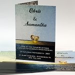 10x7 Soft Touch Lamination Invitations / Announcements with score (closes to 5x7)