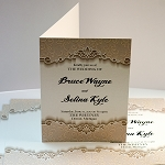 10x7 Pearlized Metallic Invitations / Announcements with score (closes to 5x7)